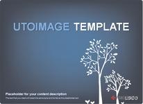 심플  나무 블루 디자인