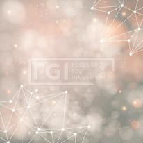 Geometric background with triangle elements and place for Your t