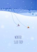 겨울 여행 풍경 미니멀 일러스트9 (GIONE)