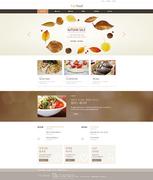 [웹디자인]웹사이트 시안_식품