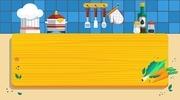 Kitchen Vector Illustration. Cooking Flat Symbols. Kitchen Utensils Design Set. Cooking Background Illustration.