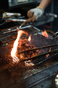 불닭 요리하는 모습