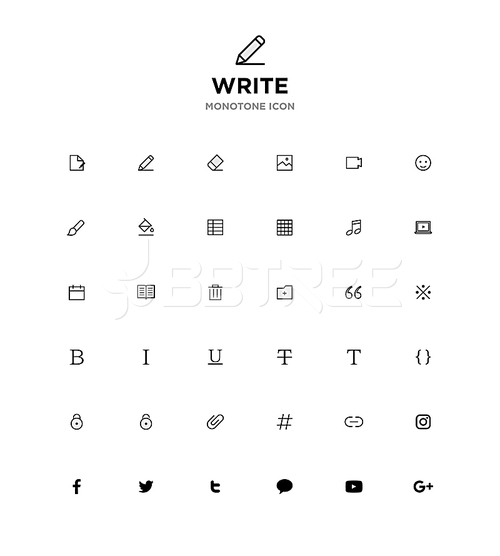 MONOTONE ICON_WRITE