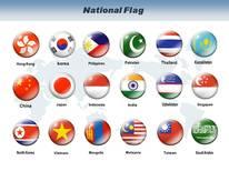 아시아 국기