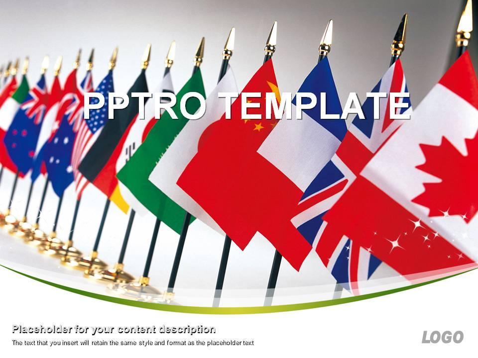 글로벌 국기 배경