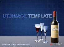 와인과 와인잔 디자인