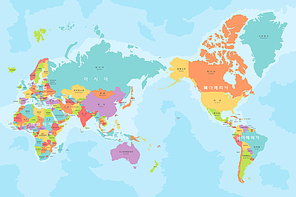 [ILL113] 어린이 국가명 세계지도