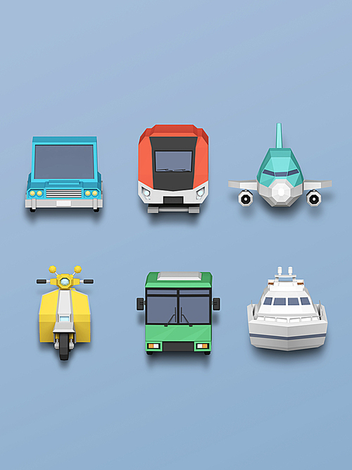 [FUS100] Lowpoly Icon007