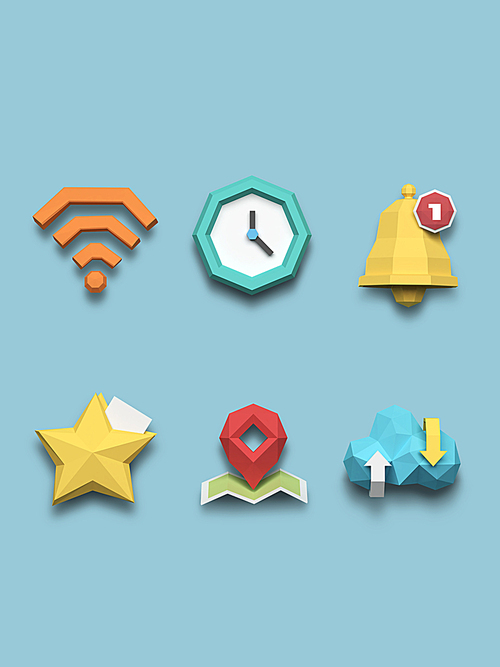 [FUS100] Lowpoly Icon015