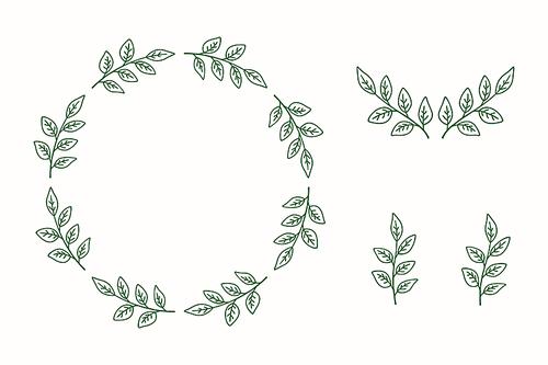 프레임소스 - 식물 프레임 디자인 벡터 일러스트 5