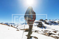 woman on the mountain top