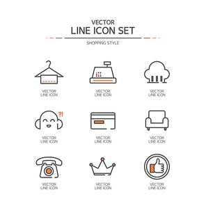 아이콘 라인 쇼핑43 (러블리하)