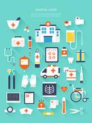 병원 의료 메디컬 플랫 레이어 모음 (깅깅)