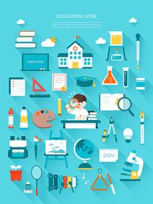 학교 교육 플랫 레이어 모음 (깅깅)
