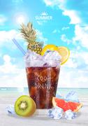 상큼한 여름 과일 음료 편집 디자인1 (GIONE)