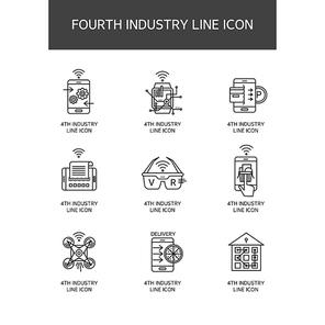 4차 산업혁명 라인 아이콘5 (러블리하)