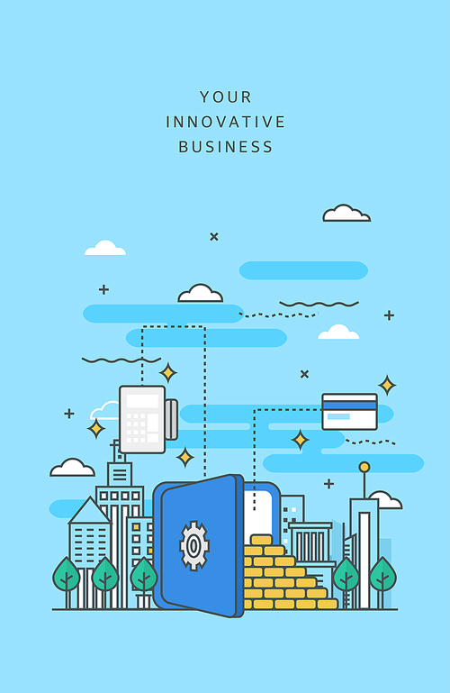 도시와 비즈니스 라인 일러스트5 (러블리하)