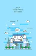 도시와 비즈니스 라인 일러스트8 (러블리하)