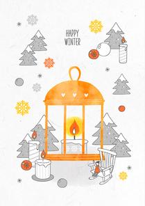 포근함 가득한 겨울 드로잉 일러스트4 (GIONE)