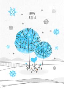 포근함 가득한 겨울 드로잉 일러스트7 (GIONE)