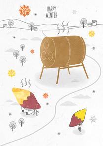 포근함 가득한 겨울 드로잉 일러스트10 (GIONE)