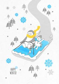포근함 가득한 겨울 드로잉 일러스트9 (GIONE)