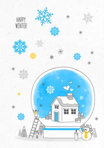 포근함 가득한 겨울 드로잉 일러스트13 (GIONE)