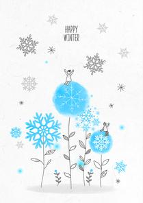 포근함 가득한 겨울 드로잉 일러스트2 (GIONE)