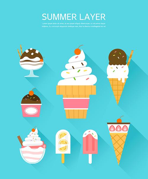 여름 아이스크림 레이어 모음9 (GIONE)