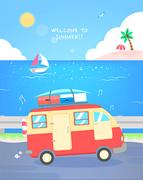 즐거운 여름 여행 일러스트7(유봉)