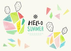 [일러스트] 여름수채화02