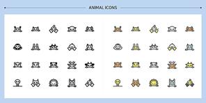[아이콘] 라인아이콘-동물