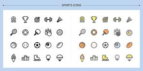 [아이콘] 라인아이콘-스포츠