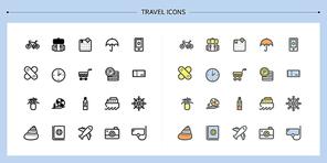[아이콘] 라인아이콘-여행