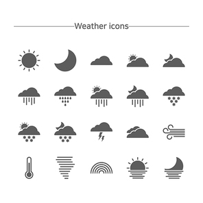 [아이콘] 플랫-날씨