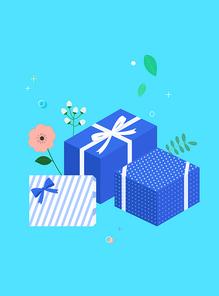 [일러스트] 쇼핑-상자 02