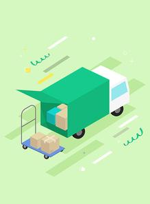 [일러스트] 쇼핑-상자 04