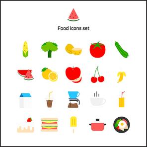 [아이콘] 플랫아이콘-음식