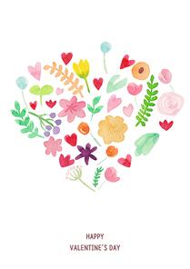 [일러스트] 발렌타인데이 수채화 03