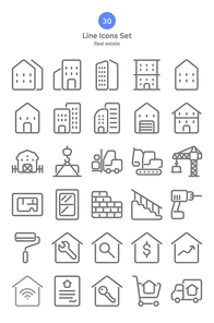 [아이콘] 라인-건축