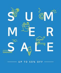 [그래픽] 여름 세일 포스터 01