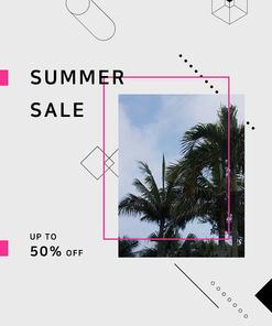 [그래픽] 여름 세일 포스터 03