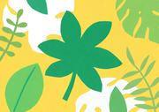 [일러스트] 색종이 배경 - 열대 나뭇잎