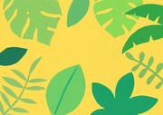 [일러스트] 색종이 배경 - 열대나뭇잎
