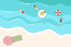 [일러스트] 여름 바다 01