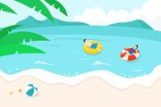 [일러스트] 여름 바다 02