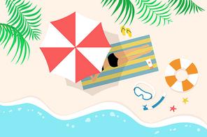 [일러스트] 여름 바다 05