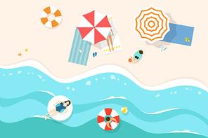 [일러스트] 여름 바다 04