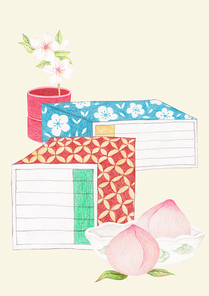 한국 전통 배경 - 책가도