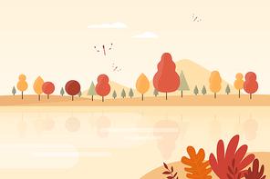가을 풍경 일러스트 03